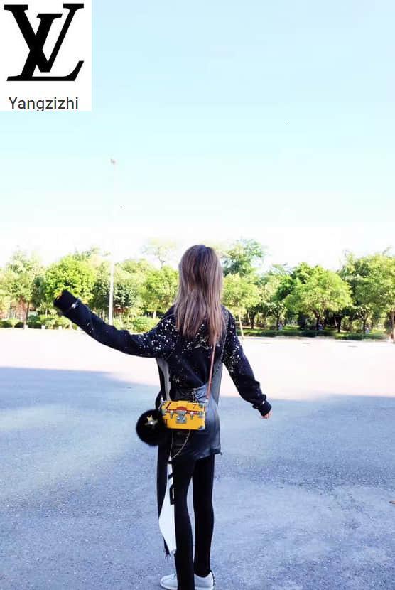 Yangzizhi New Petite Malle Handbags Lemon Yellow Leather Box Messenger Bag M40273 Handbags Bags Top Handles Shoulder Bags Totes Evening