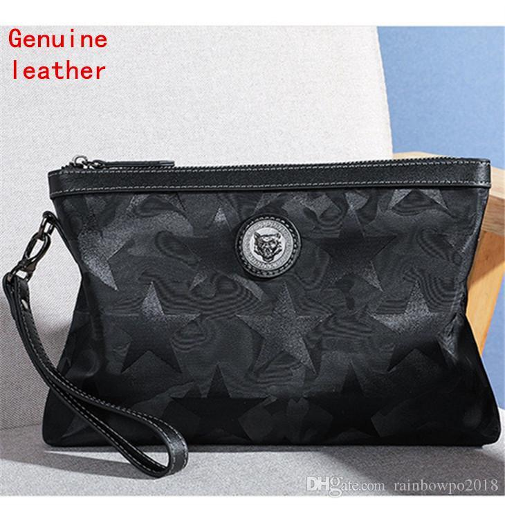 wholesale men handbag waterproof Oxford cloth men hand clutch stars printed fashion envelope personality hardware decoration storage wallet