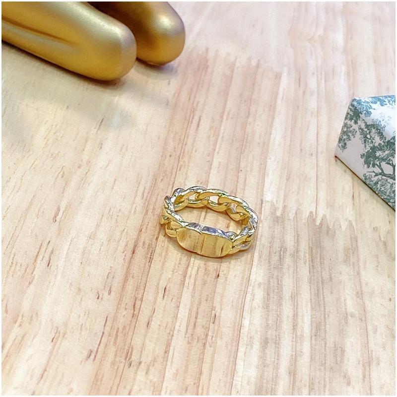 حلقة ذهبية من حروف الأبجدية مصنوعة من الفضة الخالصة للرجال والنساء مجوهرات مصممة فاخرة للنساء الشحن المجاني