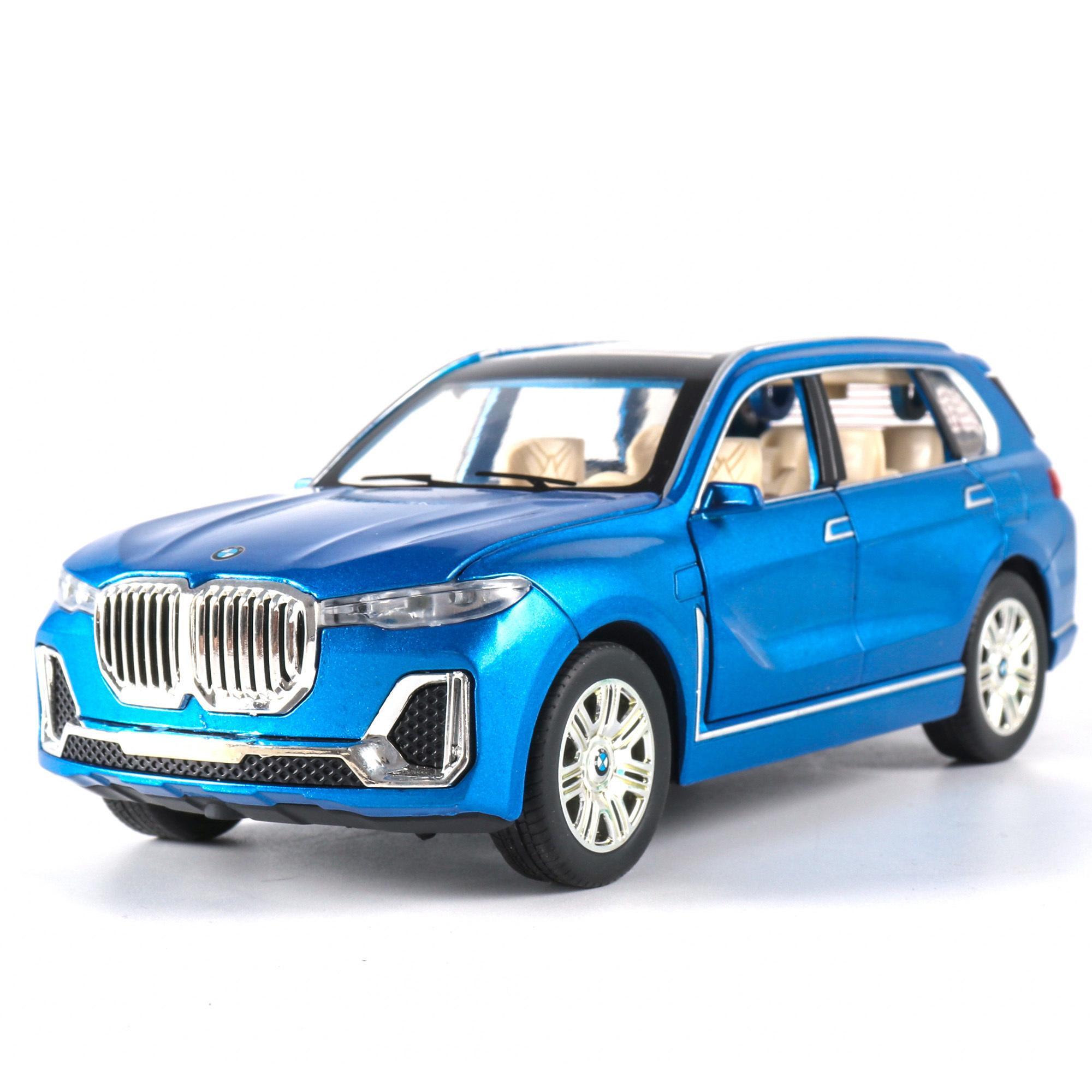 01:24 BM X7 Alaşım Araba Modeli Diecasts Oyuncak Araçlar Çoklu renk oranı Simülasyon Işık Ses Çekme Geri 6 Kapılar Çocuk Hediye Açıldı