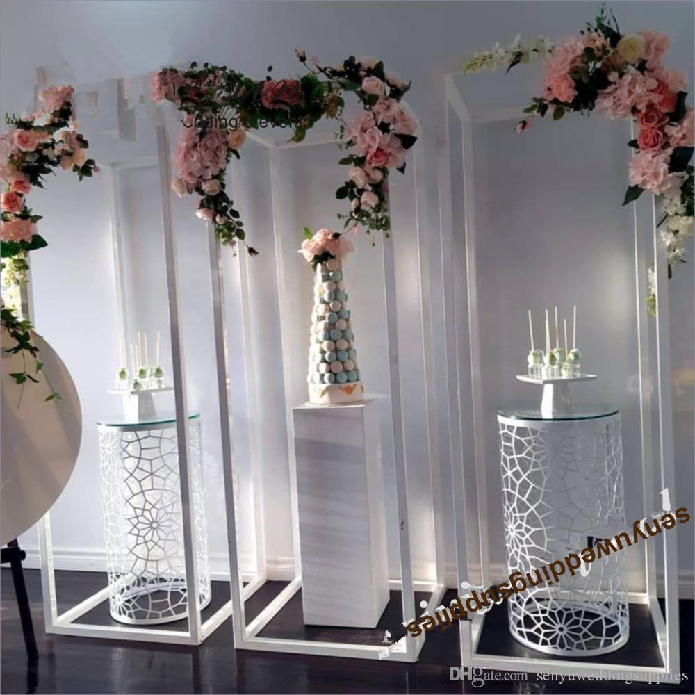 New style 150cm tall )Chinese supplier unique wedding backdrop frame stand senyu0482