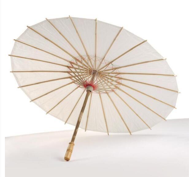 Livro Branco da noiva do casamento Guarda-sóis punho de madeira chinesa Craft Umbrella 40 centímetros 60 centímetros de Abastecimento de casamento