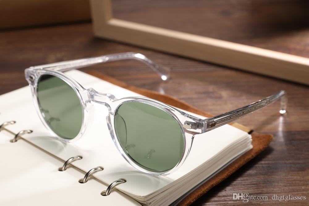 Gregory Peck Marken-Designer Männer Frauen Sonnenbrillen oliver Vintage-polarisierte Sonnenbrille OV5186 Retro-Sonnenbrillen oculos de sol OV 5186