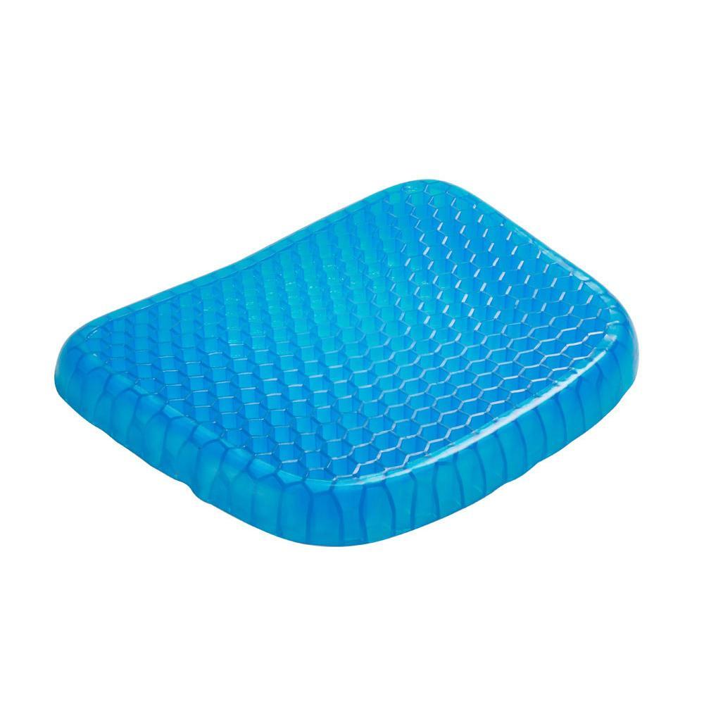Big Size Flexible Gel Seat Cushion Breathable Orthopedic Honeycomb Car Sofa Cushion Cervical Health Care Pain Release Cushion Y200103