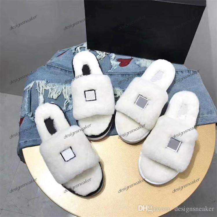 Tasarımcı Deri loafer'lar Kürk Muller Terlik Moda Kadınlar Princetown Bayanlar Casual Kürk Mules Flats Terlik Slaytlar Ayakkabı