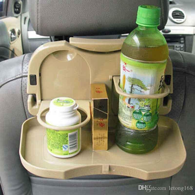 Asiento trasero del coche Botella plegable de Alimentos taza de la bebida montaje de la bandeja del sostenedor Tabla Beige