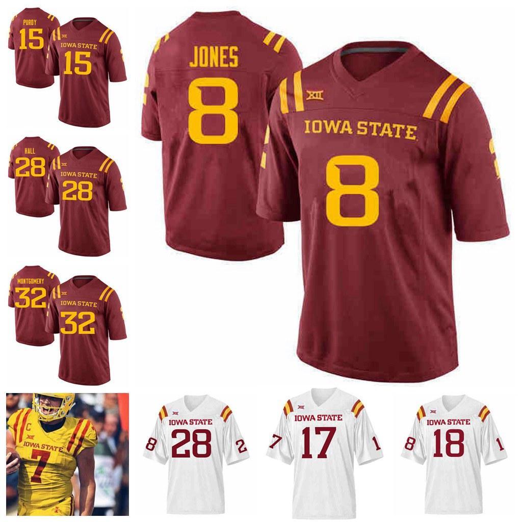 Iowa State Siklon Koleji Futbol Formalar JaQuan Bailey Jersey Deshaunte Jones Tarique Milton Matthew Eaton Johnnie Lang Özel Dikişli
