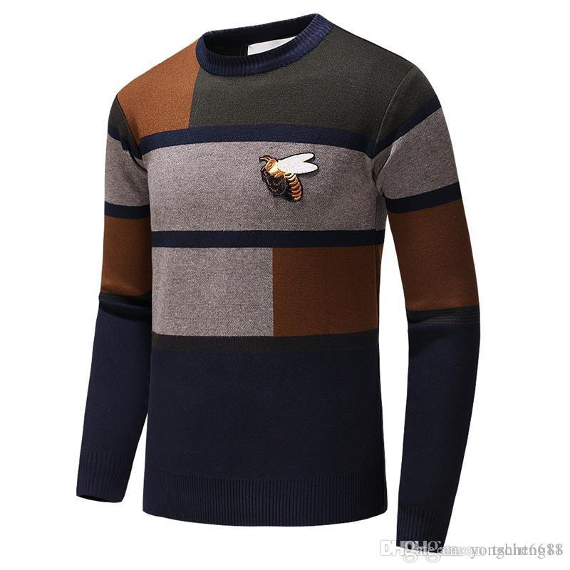 Casual Sweaters Mans Long Sleeve Premium Keywords Logo w Wool Warm Pattern Pullover Hoodies