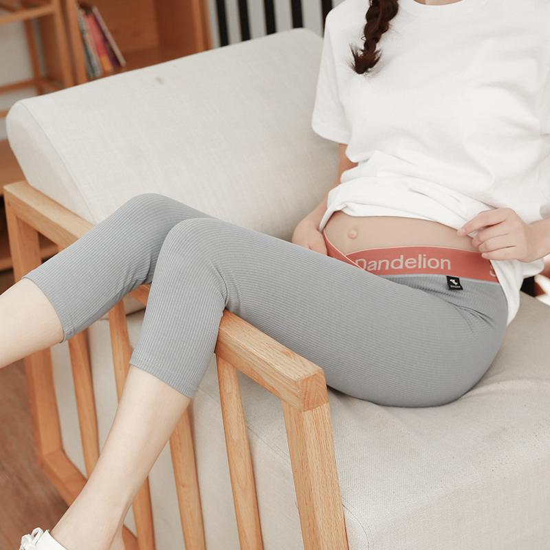 Cropped Leggings Summer Pants For Pregnant Woman Low Waisted Maternity Clothes