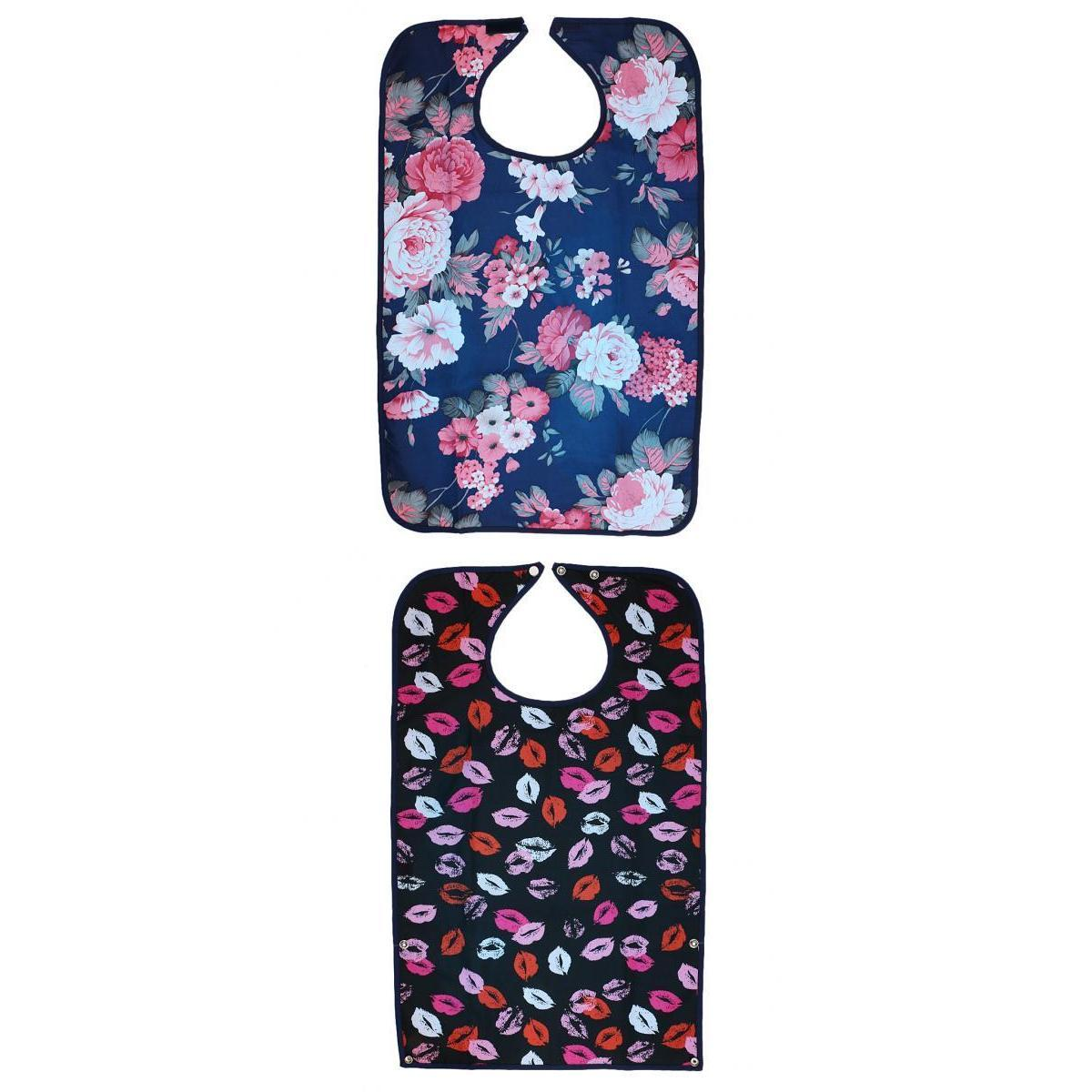 Packung mit 2 Erwachsenen Lätzchen - Wiederverwendbare maschinenwaschbar, Kleidung Mealtime-Schutz, wasserdicht
