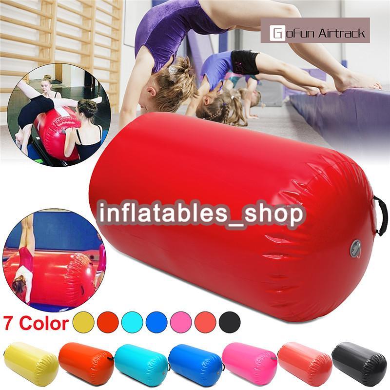 Yüksek kalite 60 cm çaplı şişme jimnastik hava mat / varil, hava spor ekipmanları şişme hava parça / çocuklar için rulo