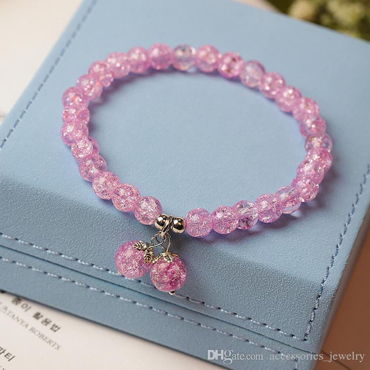 2019 Bracciale ciondola lucido colorato regalo Amicizia Best Selling donne di alta qualità naturale Bella mano Perle