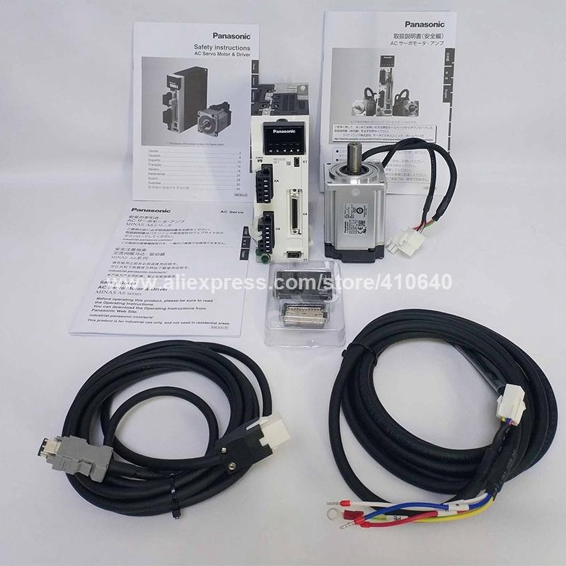 Genuine Servo Motor A6 400w Mhmf042l1u2m And Servo Drive Mbdln25se Sg With 3 Meter Cable And All Connectors Delivery Together