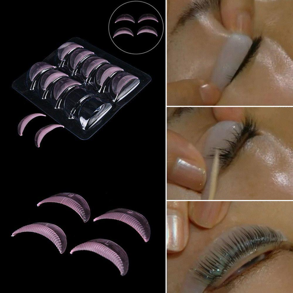 5 /package Permanent Silicone Of Eyelashes Curler Of Ondulation Perm Raiz Shield Lifting Pad Junta False Pestana False Sandman Assistant