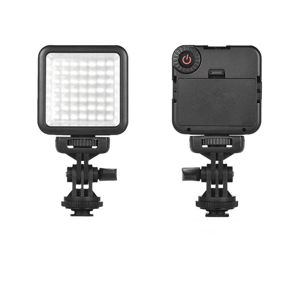 جديد W49S LED الكاميرا gropro الرياضة SLR ضوء الكاميرا إصلاح ضوء الزفاف المحمولة