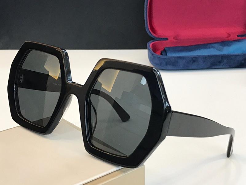 Beliebte Neuverkauf 0708 Sonnenbrillen für Frauen Sechseck Platte Full Frame Top Qualität Mode Dame großzügiger Stil UV400-Objektiv 0708s mit Paket