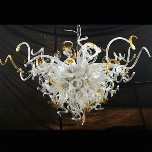 순수한 컬러 꽃 디자인 매달려 샹들리에 심장 모양의 무라노 유리 아트 펜던트 이탈리아 샹들리에