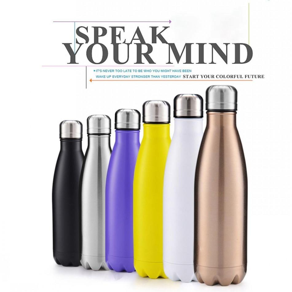 350-1000ML Stainless Steel Double Wall Vacuum Insulated Bottle Water Flask Sport