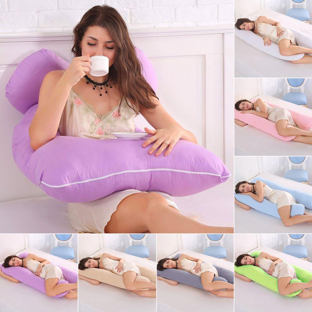 Sleeping Support Oreiller Pour Les Femmes Enceintes Corps Coton Taie D'oreiller U Forme Maternité Grossesse Oreillers Côté Sleepers Literie