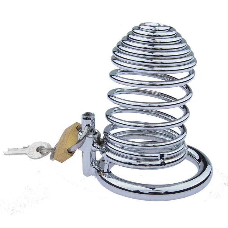 40/45/50 mm rings Can choice Fully Restraint Male Stainless Steel Chastity Device Belt Metal Cock Cage Penis Lock bondage Ring Sex Toys