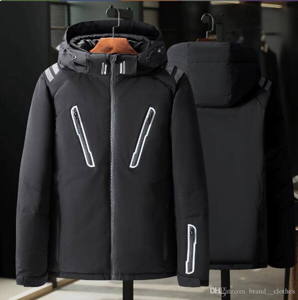 Herren Winter Europa die Vereinigten Staaten neue Mode Freizeit koreanische Version von Boutique Slim Trend verdickt warme Kapuze Jugend Daunenmantel M-3xl