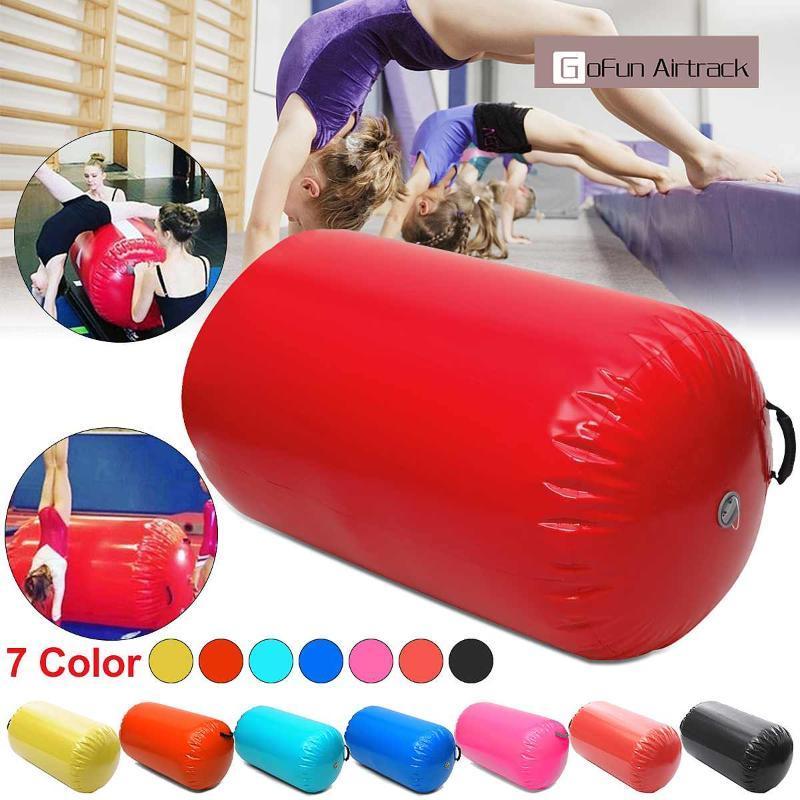Gofun AirTrack Luftzylinder Tumblingbahn Gymnastik-Übungs Spalte Aufblasbarer Gym Inverted Backflip Ausbildung Kinder sicher