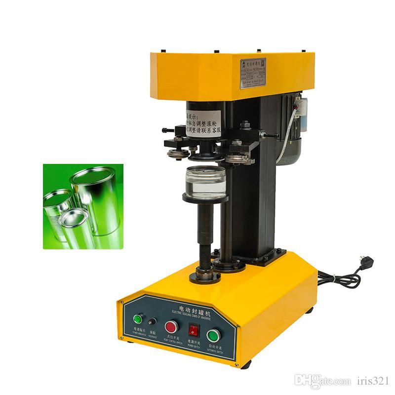 370W Коммерческий электрический жести пластиковая бутылка бумага может укупорочные машины укупорочные машины алюминиевая крышка запайки