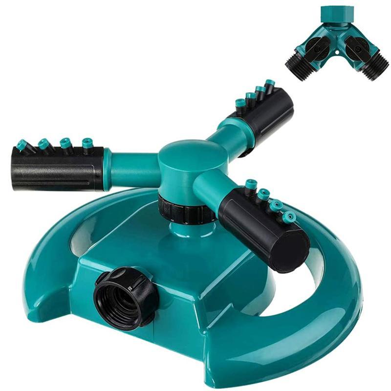 Automático do sistema de extinção Lawn 360 Rotating Sprinkler ajustável (verde de extinção)
