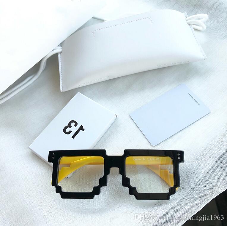 Nouvelles lunettes claires Effacer les hommes anciens de cadre Restauration cadre Myopie Oculos Verres Grau Lens et lunettes Eye Femmes Cadres GM avec CAS SBWX