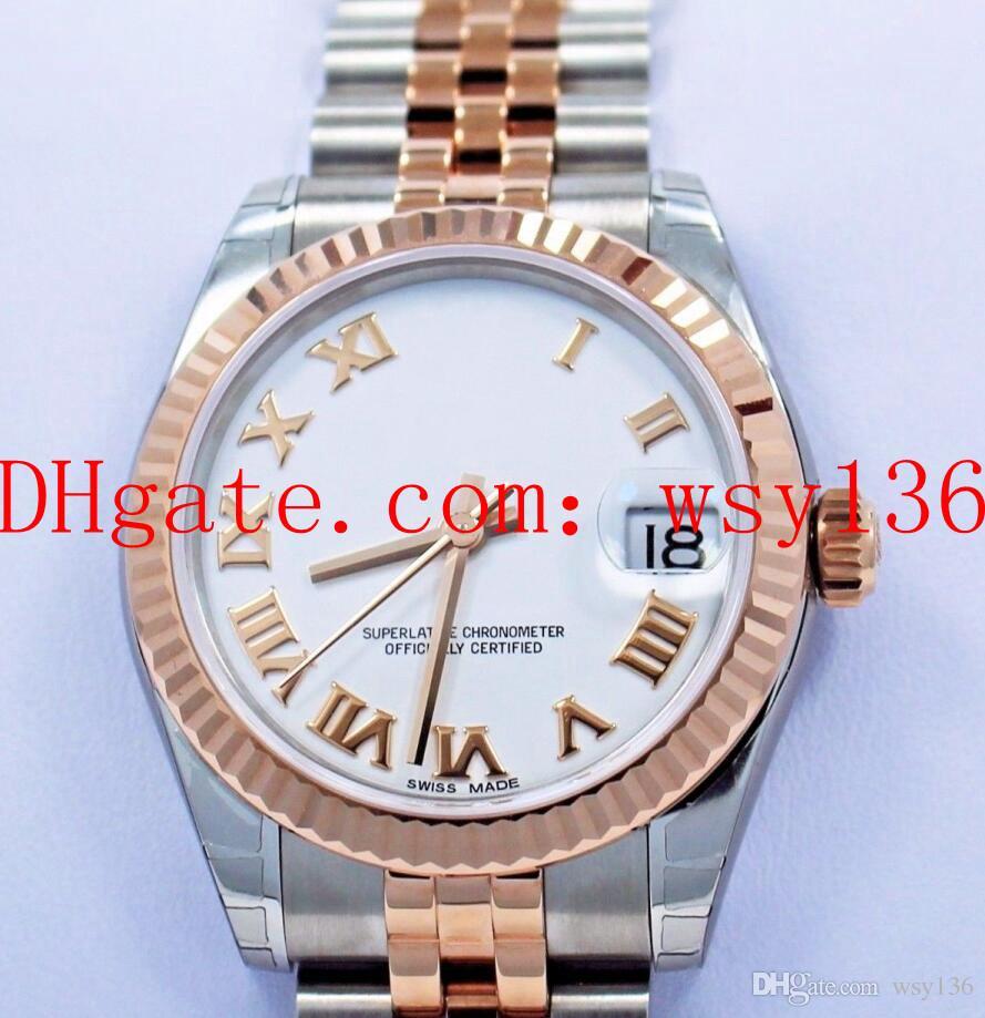 Lusso di alta qualità DATEJUST 178271 31mm Jubilee 18k oro rosa e acciaio inox Ladies Movimento automatico orologio orologio da donna moda donna