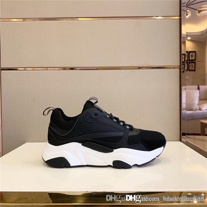Le ultime scarpe da ginnastica, scarpe da altezza in aumento, collisione a colori con le scarpe in pelle della maglia Moderne scarpe sportive di stile per uomini e donne con scatola