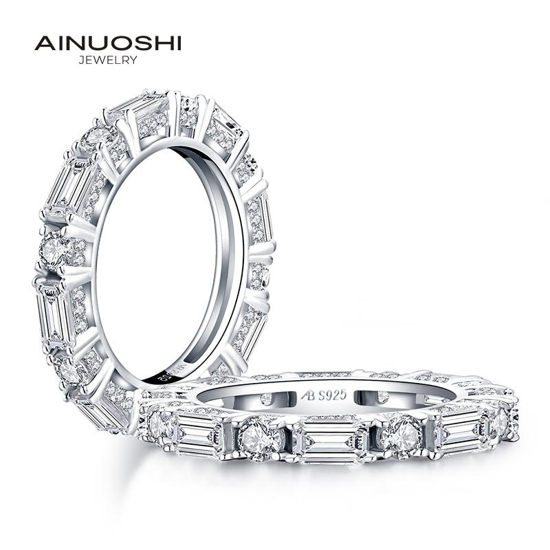 USA Seller Eternity Band Sterling Silver 925 Best Jewelry Selectable Black SC