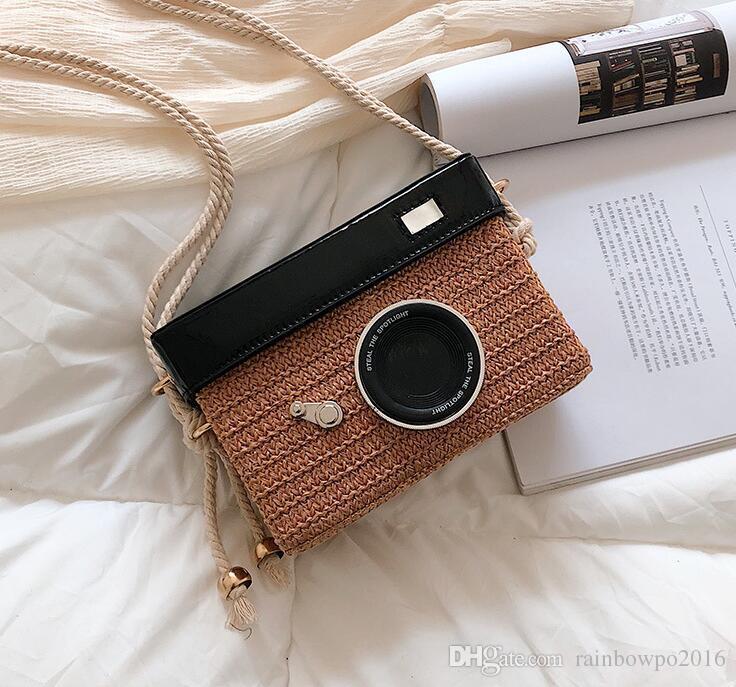 Borsa della fabbrica tessuta borsa della borsa della spiaggia della borsa del tessuto della borsa di stile della borsa della borsa della donna di estate nuova ins insetto all'ingrosso eccellente Piccola borsa fresca di stile