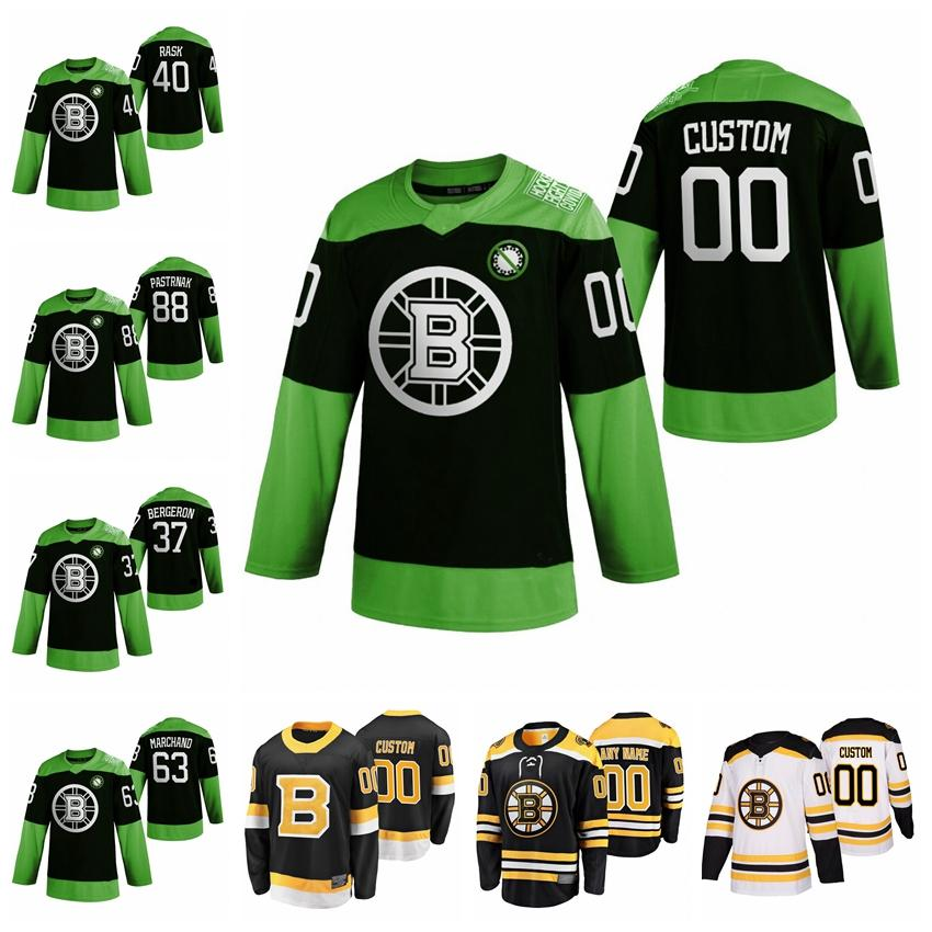 Boston Bruins Formalar Patrice Bergeron Jersey David Pastrnak Zdeno Chara Marchand Charlie COLY FAZARSI HOKEYİ Mücadele NCOV Özel Dikişli