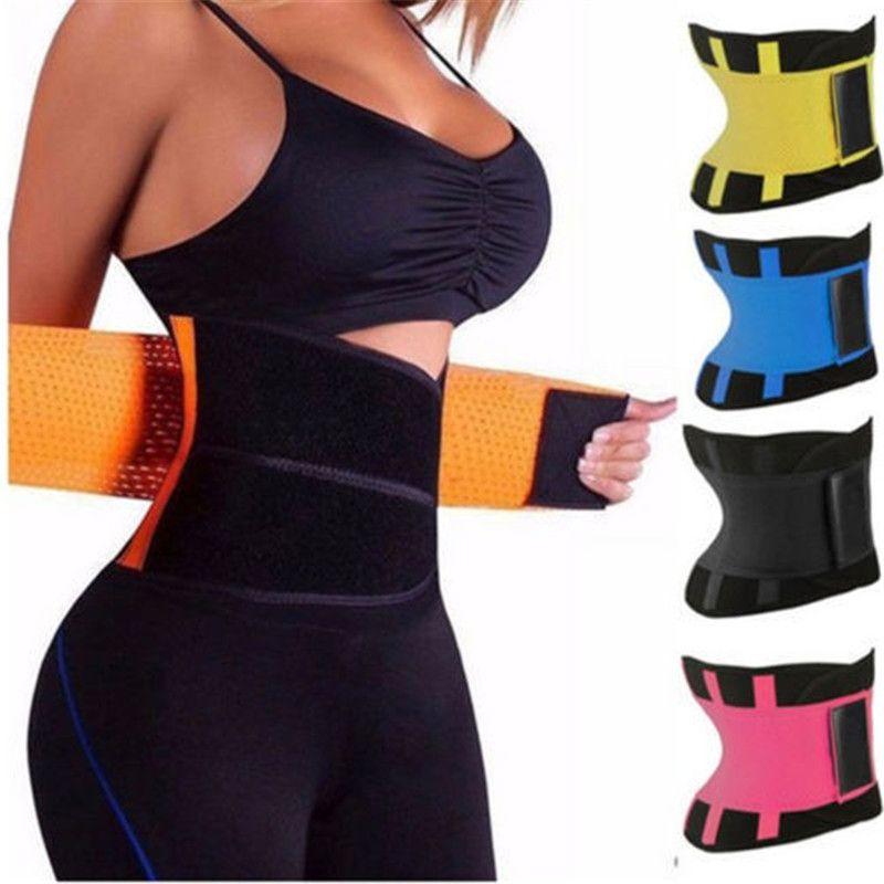 Kadın Şekillendirici Unisex Vücut Şekillendirici Zayıflama Shaper Kemeri Kemerler Firma Kontrol Bel Trainer cincher Artı boyutu S-3XL Spor Shapewear 8 Renkler