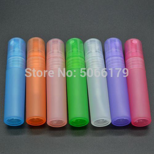 5ml Renkli Plastik Kozmetik Toner Püskürtme Memesi Konteynerleri İnce Mist Makyaj Parfüm Koku Şişeler Seyahat boyut Parfüm Atomizer