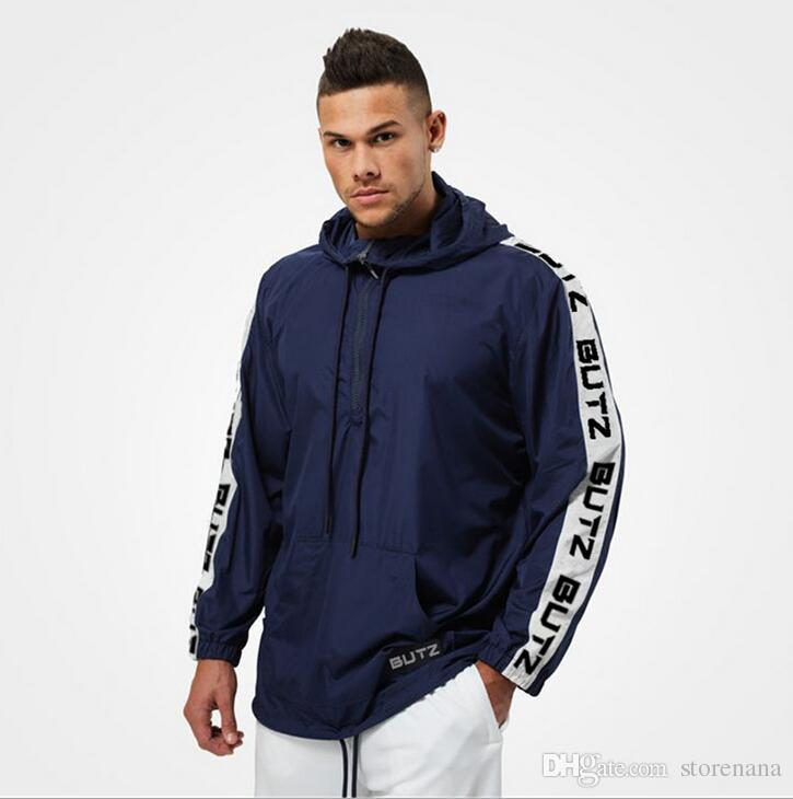 Doctor Muscle Brothers European and American Autumn Thin Sports Jacket Men's windbreaker Waterproof Running Training Fitness Garment GYM