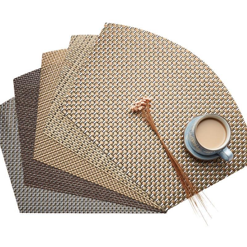 New 45*30 cm Fashion place mat PVC dining table mat Table placemats for decoration accessories Fan-shaped placemat