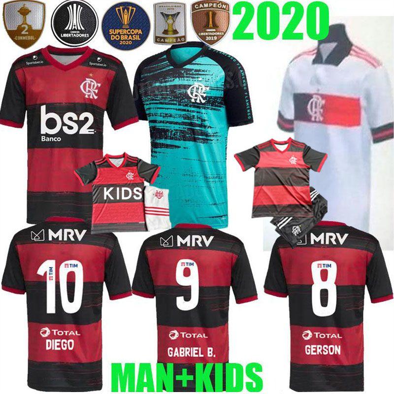 20 21 CR Fußball-Trikots GUERRERO DIEGO HENRIQUE GABRIEL Sport 2020 2021 Brasilien Flamenco-Fußballhemd Männer Frauen Kinder Kit einheitlich flamengo