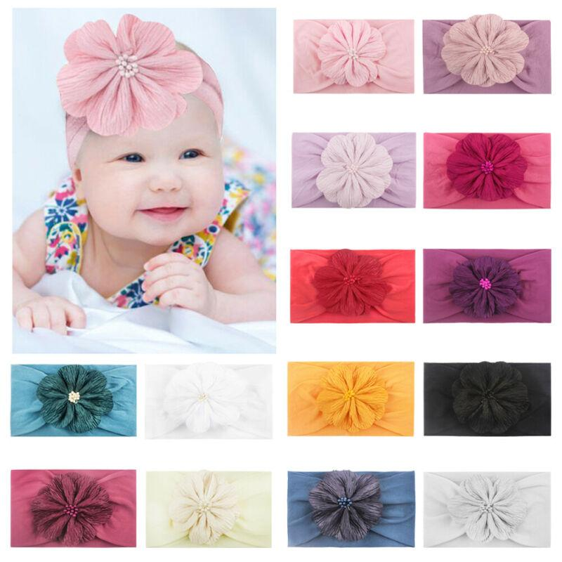 13Color ! Baby Girl Цветочный Узел Хлопок Оголовье Волос Группа Головные Уборы Милые Детские Аксессуары Для Девочек