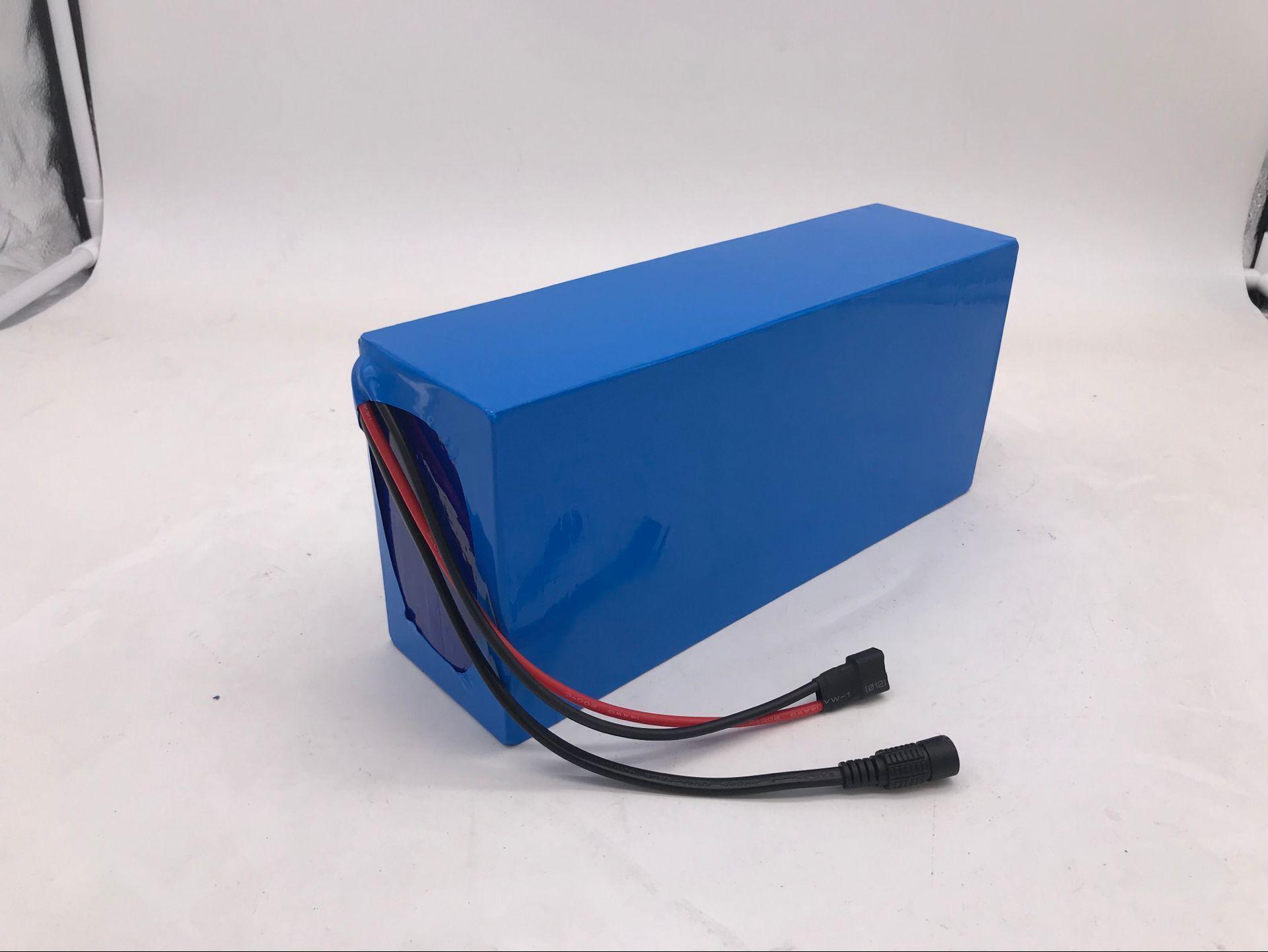48V 20A ebike Литий-ионный аккумулятор большой емкости 48 В 20ah электрический велосипед Литий-ионный аккумулятор с корпусом PVC, построенный в 30A BMS 2A зарядное устройство