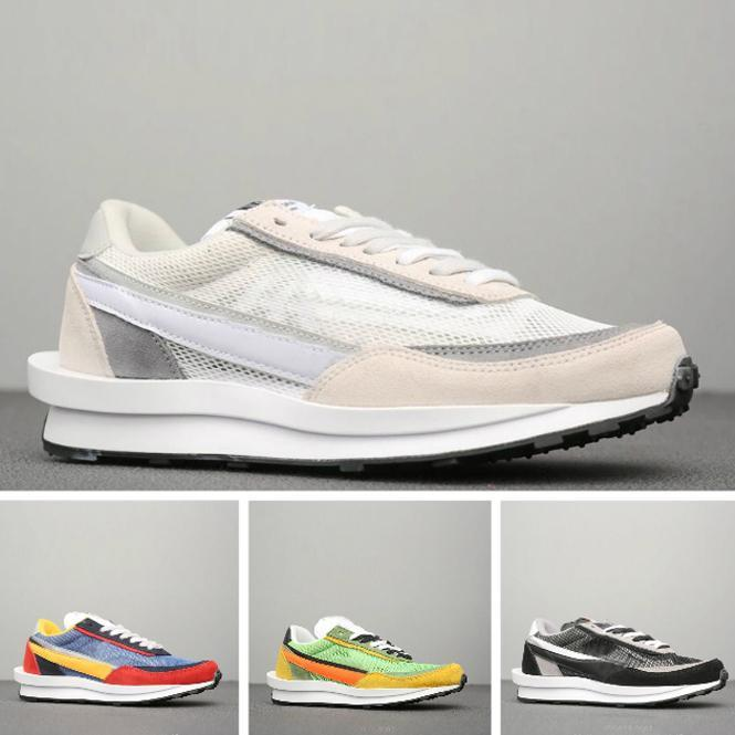 2019 Sacai X LVD WAFFLE Mens shoes designer shoes Walking designer Sneakers PRESTOS Trainer Sports Shoes 40-45