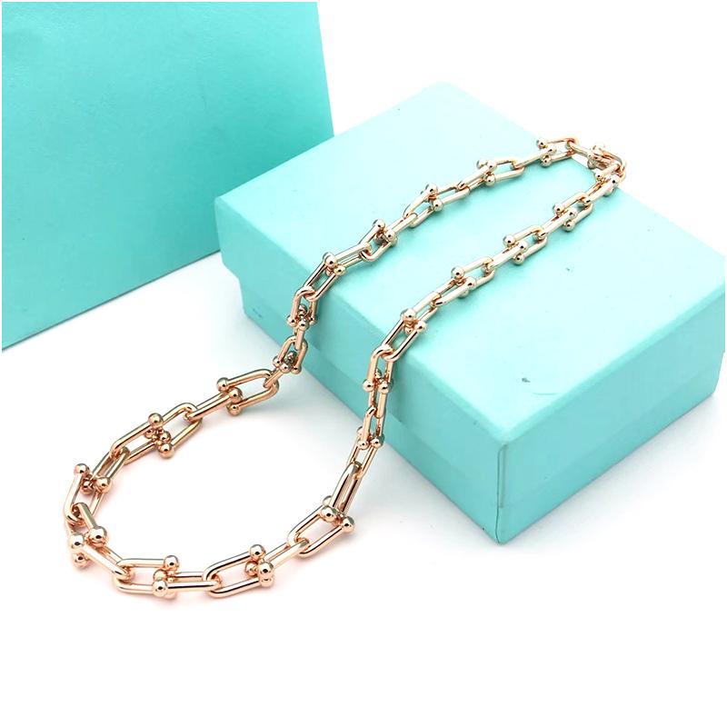 Hip Hop Bling Fashion Chains Jewelry Women Gold Silver Miami Cuban Link Chain Cadena Collares de lujo diseñador de joyería para mujeres con caja
