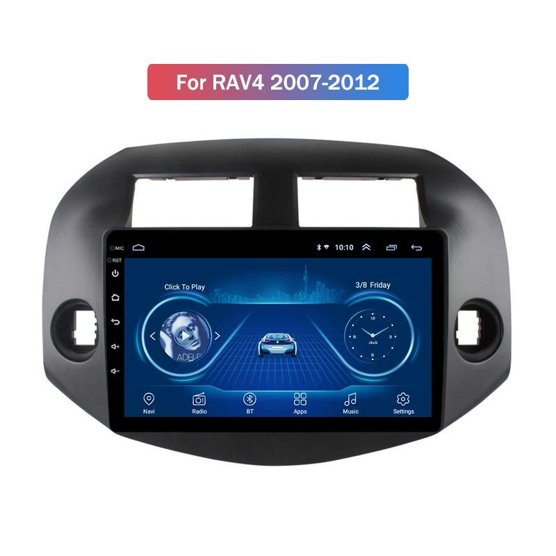 9-Zoll-Android 10 für Toyota RAV4 2007-2012 Auto-DVD-Spieler GPS-Navigations-Radio-Unterstützung Rückfahrkamera SWC