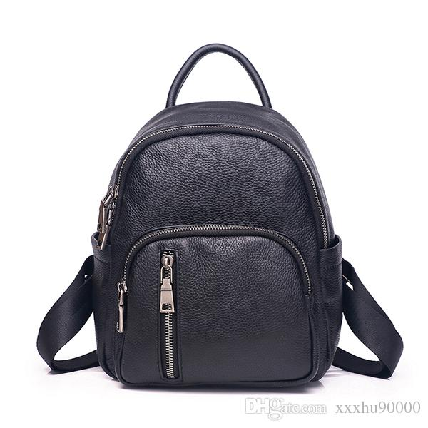 les femmes en cuir véritable de haute qualité sac à dos célèbre designer cuir véritable sac Voyage sac à bandoulière dame 532