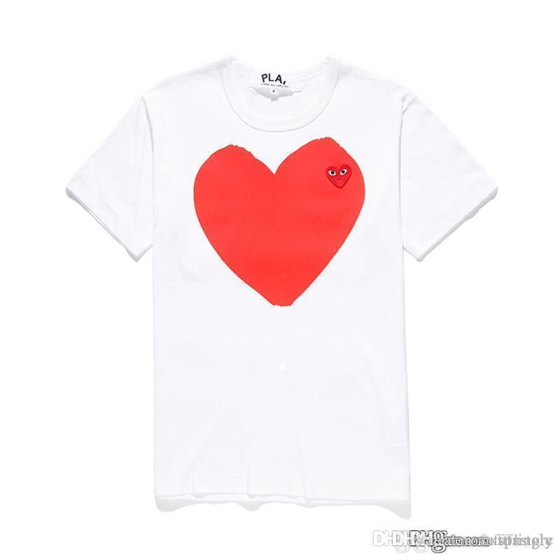 2018 COM Best Quality White des 1 Divergence Heart print Big Heart Contain Little Heart قرار سريع F / S