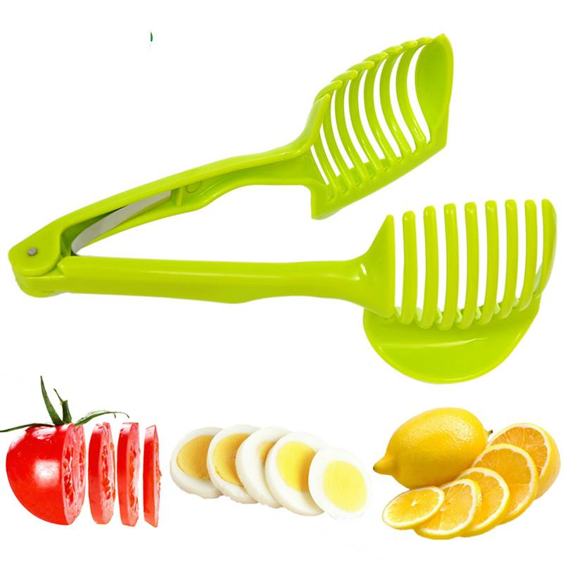 Kitchen gadgets Clip Fruit Vegetable Slicer Tool Potato Food Tomato Onion Lemon Vegetable Fruit Slicer Cutter Holder
