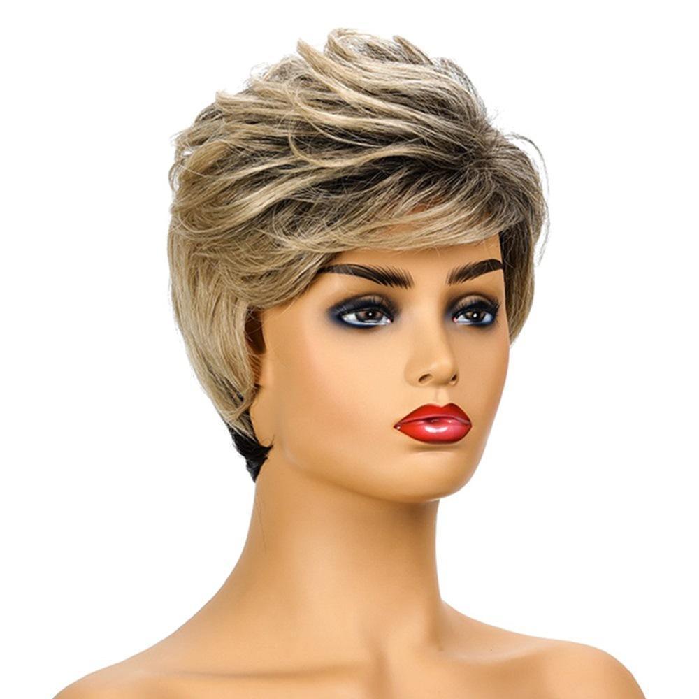 Moderne neue Haar-Perücke Curve Wave-Bobo Gefärbtes Kopfbedeckungen gute Qualität Durable hitzebeständige synthetische Faser für Frauen