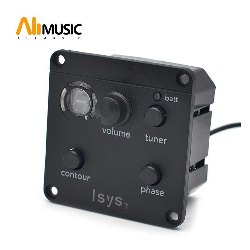 Isys T macio undersaddle Acoustic Guitar EQ Fase Tone Mudar Captura Box Battery Output Jack Black