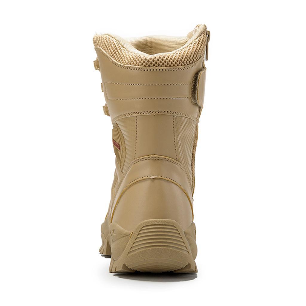 Повседневный обуви зима теплая сгустить Спорт Мужская Прочный Пустыни Открытый Туризм Высокие топы кожаные сапоги Боевые ботинки мотоцикла сапоги